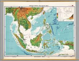 Map East Asia by Southeast Asia Physical Political David Rumsey Historical Map