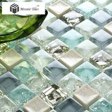 Best Backsplash Images On Pinterest Glass Tiles Backsplash - Teal glass tile backsplash
