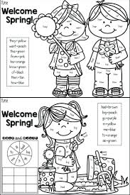 spring coloring picture free pages march color sight word