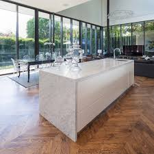 stunning setting for this fabulous carrara marble kitchen island