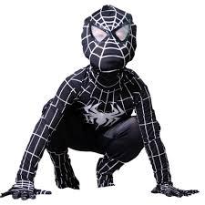 aliexpress com buy kids black spiderman costume halloween