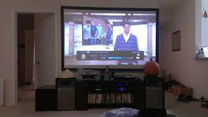 media room looking for projector screen receiver speakers