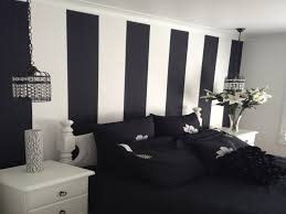 bedroom decor stripe decals black and white striped wall painted