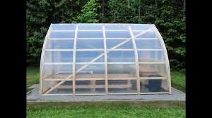 bow shed greenhouse construction youtube