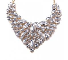 long silver crystal necklace images White silver crystal necklace jpg