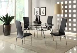 contemporary dining room glossy tile floor oval dining table set