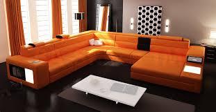 contemporary leather living room furniture best orange microfiber sofa with polaris orange contemporary