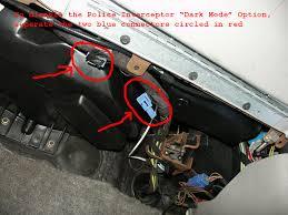 ford crown victoria lighting control module police interceptor dark car option