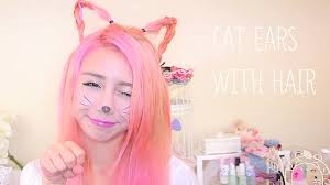 how to wear hair behind the ears make cat ears with your own hair the wonderful world of wengie