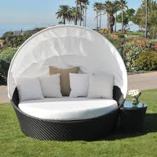 outdoor canopy bed contemporary outdoor white bed with black rattan canopy and