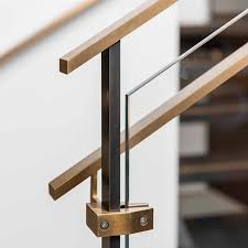 Banister Rail Fixings Detail Of Our Outrigger Stair Rail System Made From Brass