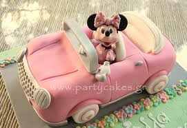 car cake minnie car cake for magnificent birthday