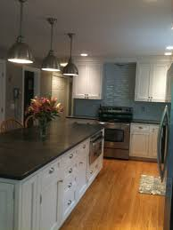 granite countertop kitchens with cherry cabinets and wood floors