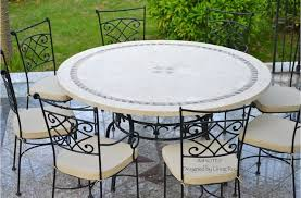 Marble Patio Table Imotep 49 63 Marble Mosaic Garden Patio Table