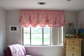 sliding window decorated with pink balloon valances beautiful