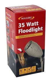 Malibu Bollard Light by Amazon Com Malibu 35 Watt Floodlight Low Voltage Landscape