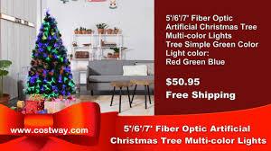 5 u0027 6 u0027 7 u0027 fiber optic artificial christmas tree w multi color