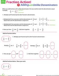 simple fractions free math worksheet for 4th grade homeschool