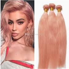 pink hair extensions 2018 pink hair bundles with lace frontal closure gold