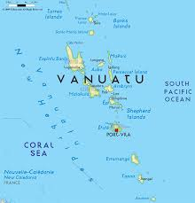 Map Of Oceania Road Map Of Vanuatu And Vanuatu Road Maps