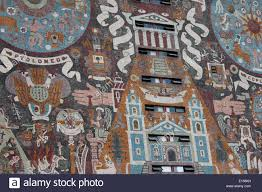 detail of the mural on the exterior of the unam library world detail of the mural on the exterior of the unam library world heritage site mexico city