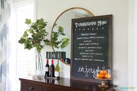 creative thanksgiving menu display on virginia