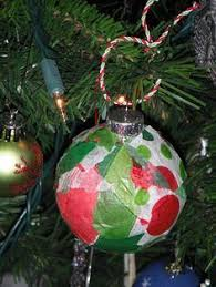 mop and glo christmas ornaments with paint pen names for the