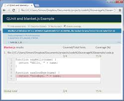 javascript qunit tutorial code coverage with qunit and blanket js simon veal