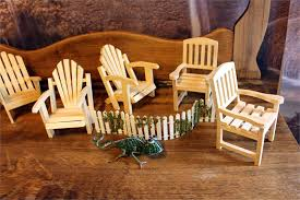 Unfinished Wood Chairs Small Adirondack Chair Miniature Chairs Unfinished