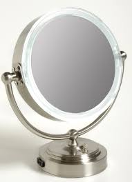 Make Up Mirrors With Lighted Makeup Mirror Stand With Lights Descargas Mundiales Com