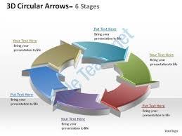 3d circular arrows process smartart 6 stages ppt slides diagrams