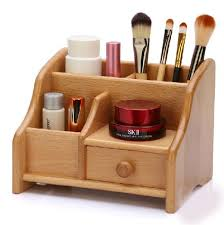 small bamboo wood storage box desk table wooden storage holder