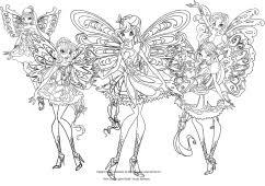 Les coloriages de las Winx Club Butterflix
