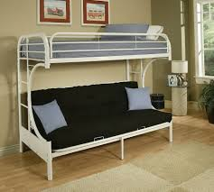 Bunk Beds  White Metal Bunk Bed With Futon White Metal Bunk Beds - White futon bunk bed