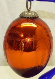crackle glass biedermeier kugel kugel style ornaments