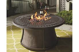 Gas Fire Pit Table And Chairs Burnella 5 Piece Outdoor Fire Pit Chat Set Ashley Furniture