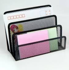 sell office stationery desk organiser metal mesh letter tray