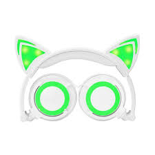light up cat headphones jamsonic led light up foldable cat ear headphones use for phones pc