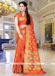 orange colour art silk woven saree ethnic mt1351 orange