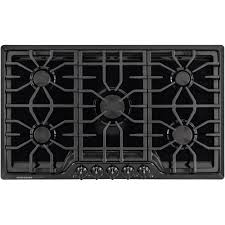 Sealed Burner Gas Cooktop Frigidaire Gallery 36 In Gas Cooktop In Black With 5 Burners