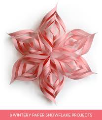 roundup 8 easy paper snowflake projects and templates curbly