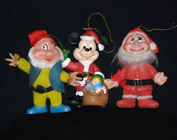 vintage disney ornaments etsy