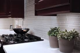 Glass Mosaic Kitchen Backsplash by Glass Wall Tile And Off White Glass Subway Tile Kitchen Backsplash