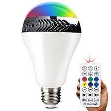 bluetooth music light bulb inarock bluetooth smart led light bulb speaker dimmable multicolored