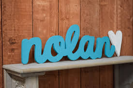 nolan baby name wooden sign nursery decor baby name signs
