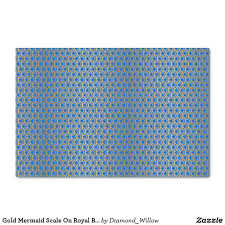 royal blue tissue paper gold mermaid scale on royal blue tissue paper