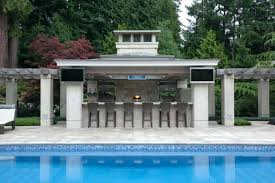 Pool And Outdoor Kitchen Design  Bullyfreeworldcom - Backyard designs with pool and outdoor kitchen