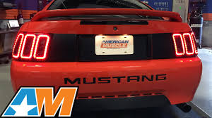 mustang led tail lights mustang raxiom icon led tail light 1999 2004 review youtube