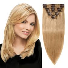 Clip In Blonde Hair Extensions by Clip In Hair Extensions 100 Real Remy Clip In Hair Extensions