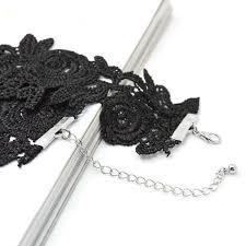 crochet necklace black images Hot trendy stylish handmade crochet big black flower simple jpg